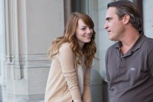 Scène de Irrational man avec Joaquin Phoenix et Emma Stone