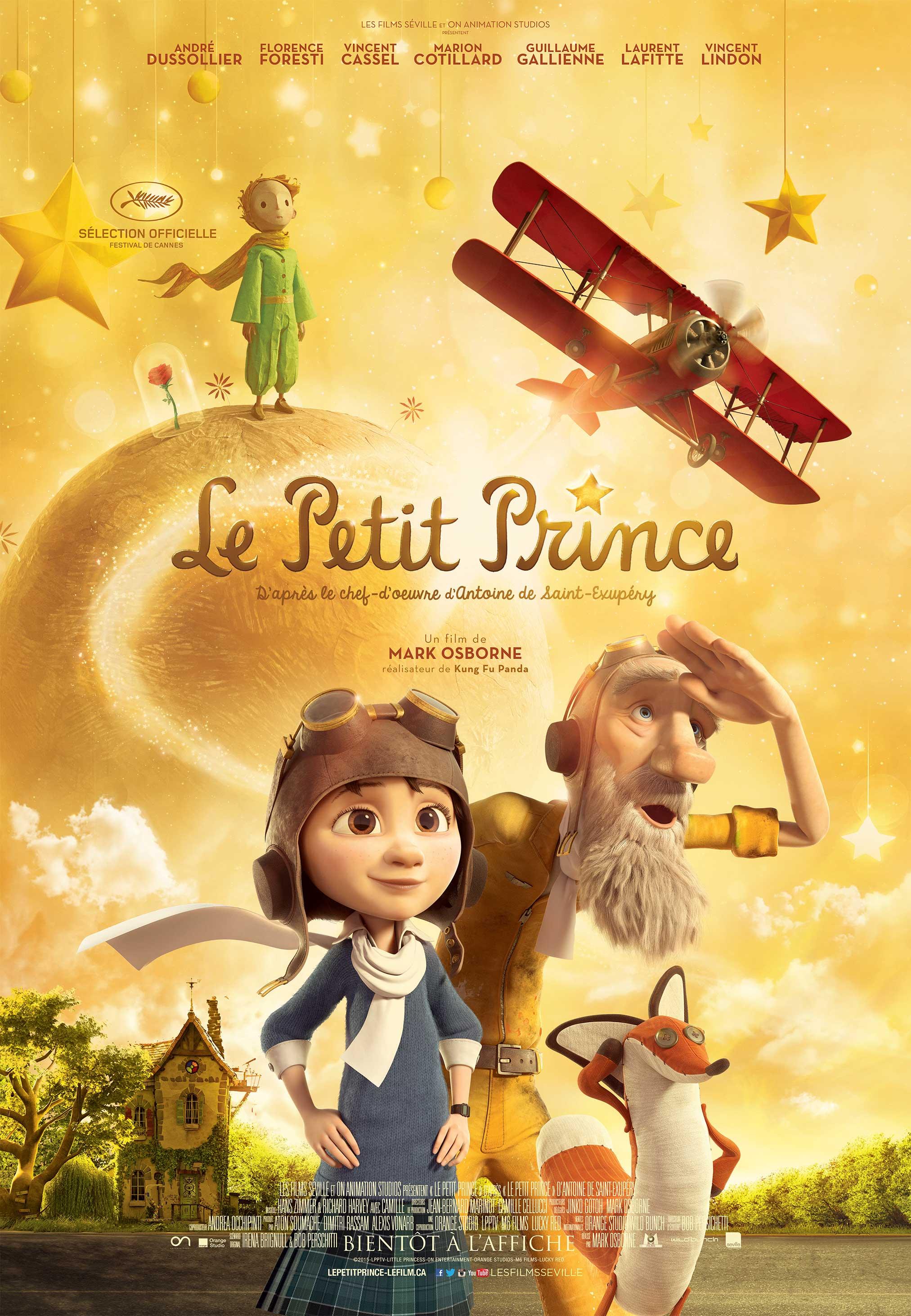 Affiche du film d'animation Le Petit Prince