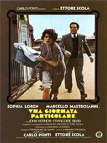 Sophia Loren et Marcello Mastroinani dans Una giornata particolare.