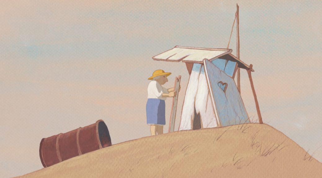 Louise construit sa cabane, dans Louise en hiver.