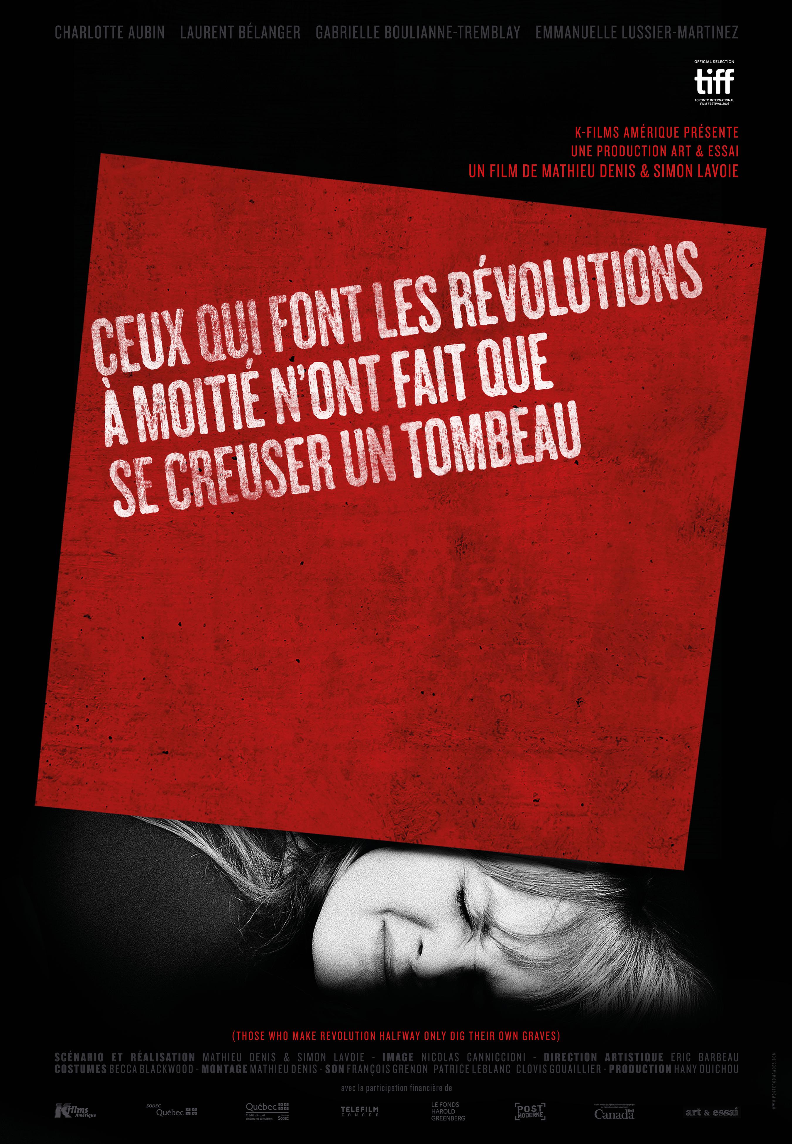 Affiche de Ceux qui font les révolutions à moitié n'ont fait que se creuser un tombeau