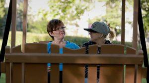 Alexandra Beaudry et sa maman, dans Le dernier souffle