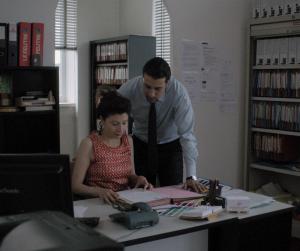 Ahmed et sa femme, au bureau (Fadma)