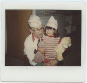 Éverard et sa fille, photo d'archives, dans Le commun des mortels
