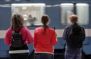 Peggy, Lauviah et Denis, dans le métro de Montréal - La résurrection d'Hassan