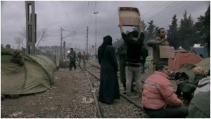 Les réfugiés qui bloquent le chemin de fer, dans Des spectres hantent l'Europe