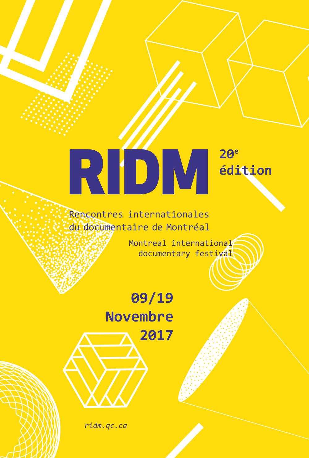 Affiche des RIDM 2017