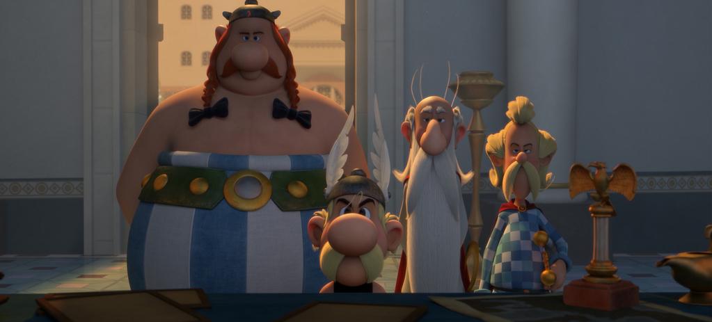 Obélix, Astérix, Panoramix et Assurancetourix