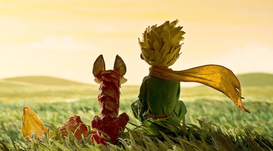 Le renard et le Petit Prince, de dos