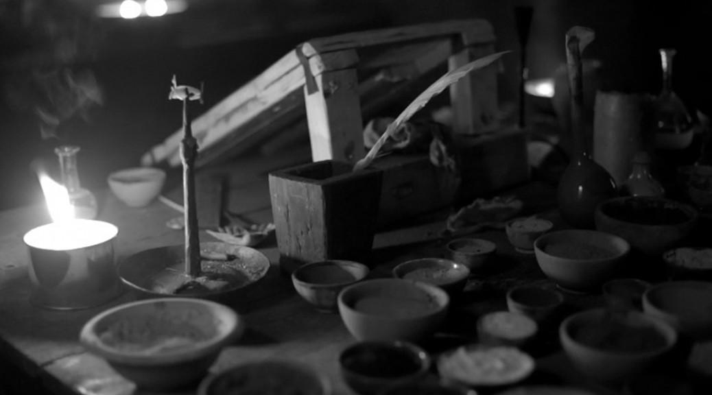 Potions dans le laboratoire d'Acarus Dumdell