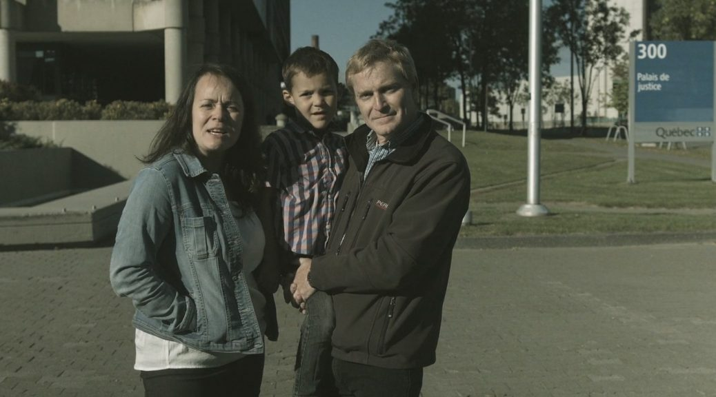 Bras de fer - Véronique Lalande avec sa famille