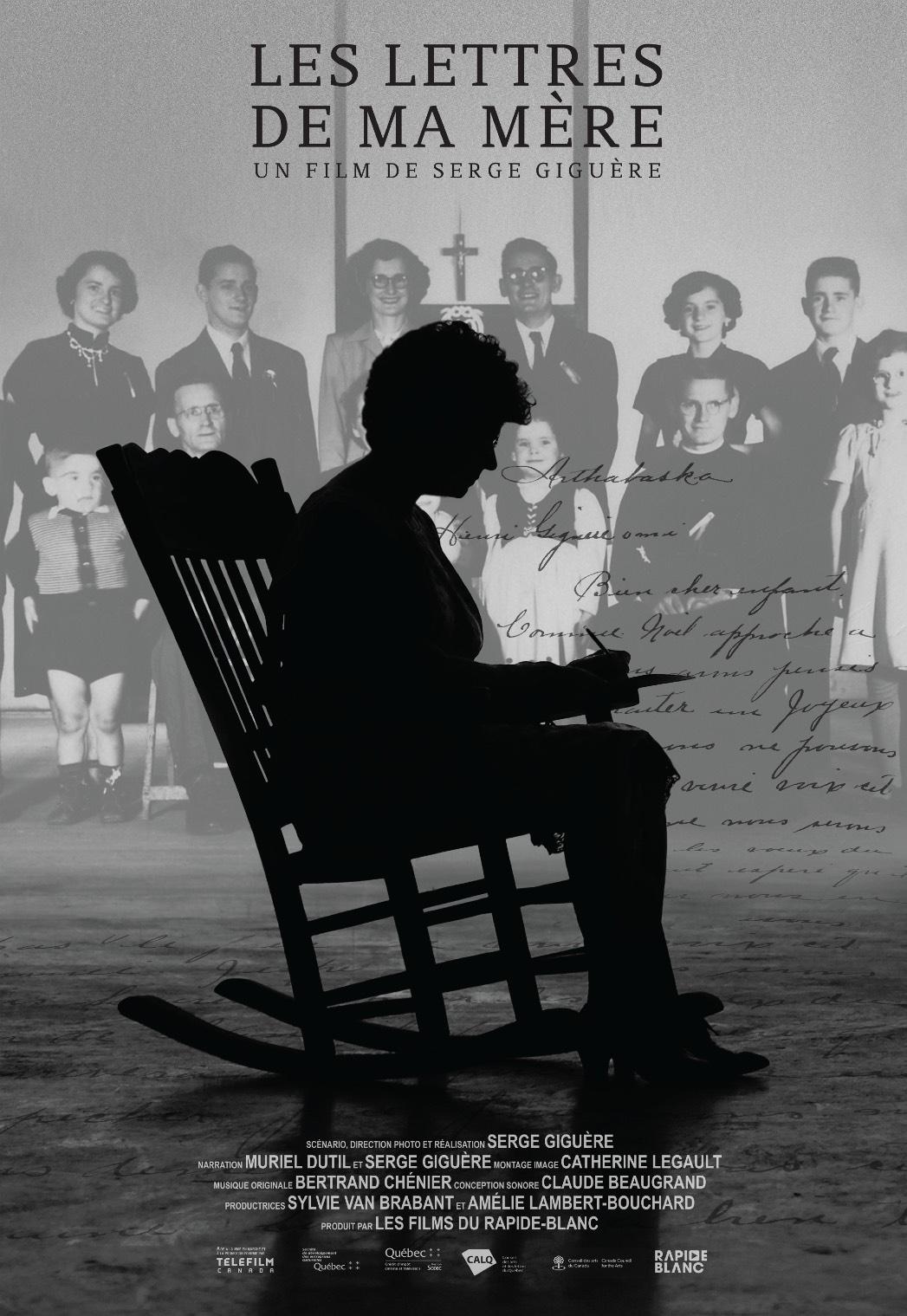 """Affiche de """"Les lettres à ma mère"""""""