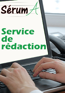 Sérum A - services de rédaction web