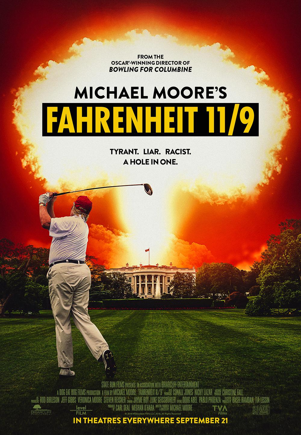 """Affiche de """"Fahrenheit 11/9"""""""