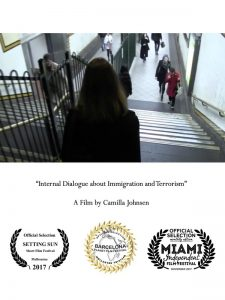 Internal dialogue about immigration and terrorism - poster