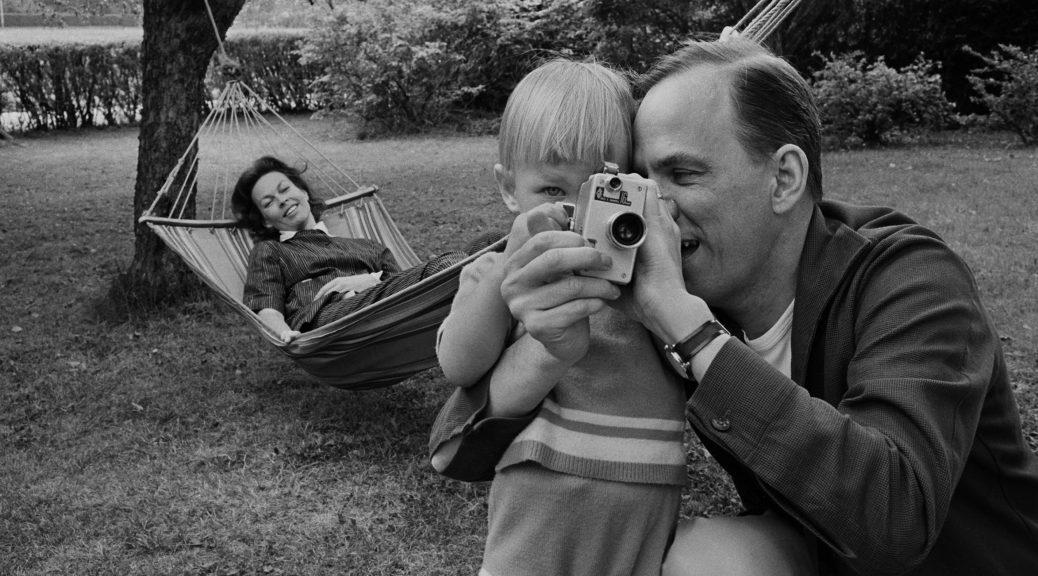 Ingmar Bergman with his wife, Kabi Laretei, and their son, Daniel