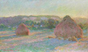 Claude Monet, Les meules de foin (fin de l'été), 1890-1891. The Art Institute of Chicago